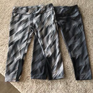 2 Pairs Nike Dry Fit XL Cropped Leggings